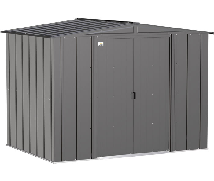 Arrow 8x6 Classic Steel Storage Shed Kit - Gray