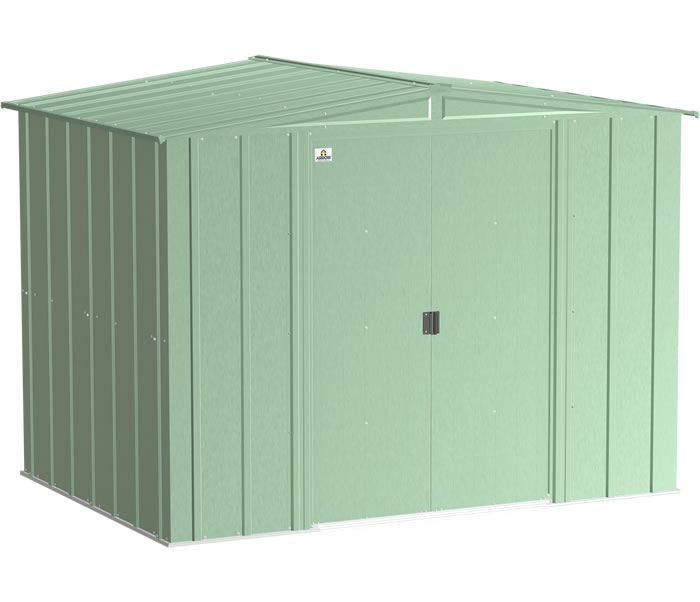 Arrow 8x6 Classic Steel Shed Kit - Sage Green