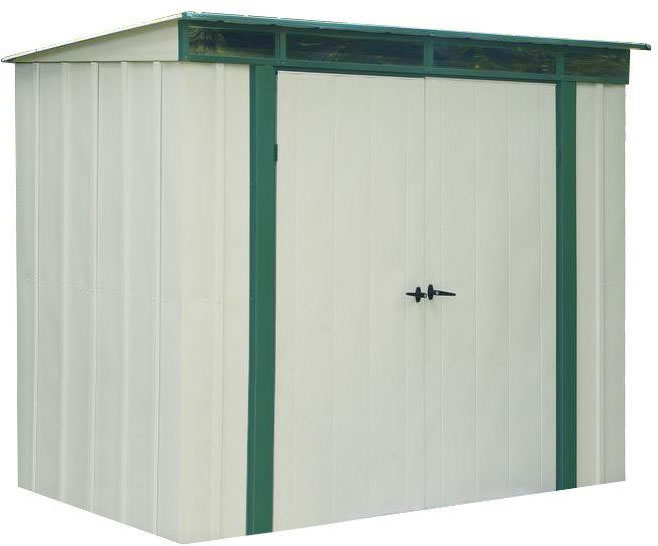 Arrow EuroLite 6x4 Steel Lean-To Shed Kit w/ Skylights