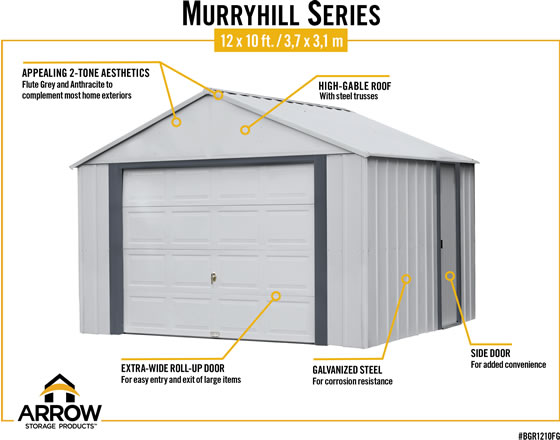 Arrow Murryhill Storage Garage Features & Benefits