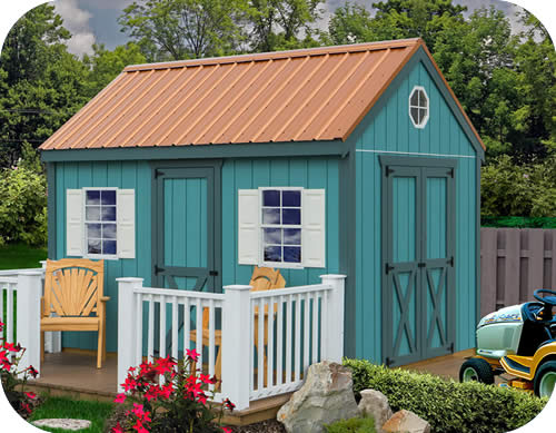 Regency 8x12 Wood Storage Shed Kit - ALL Pre-Cut
