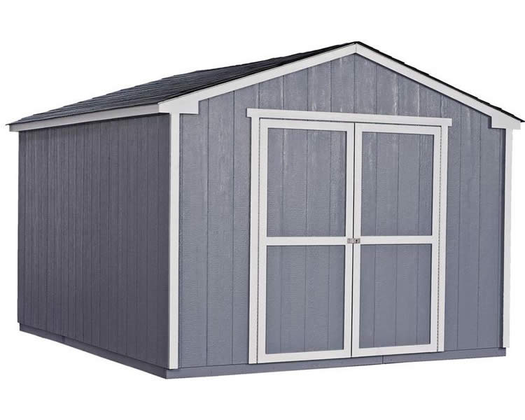 handy home cumberland 10x12 wood storage shed kit