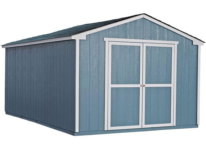 Handy Home Cumberland 10x16 Wood Shed Kit W Floor