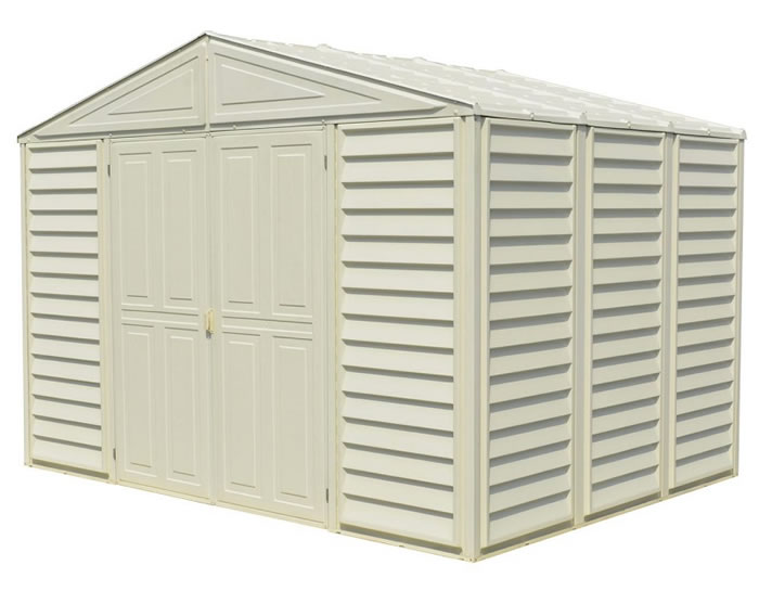 DuraMax 10.5x8 WoodBridge Vinyl Shed w/ Foundation