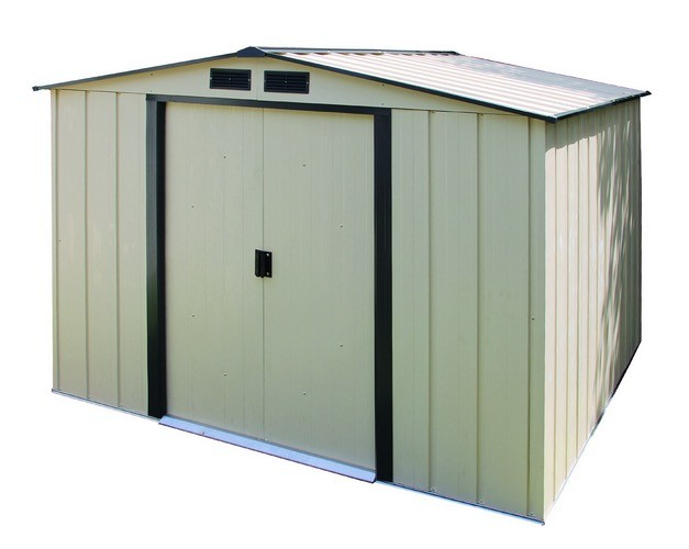 Duramax 10x10 eco metal storage shed kit 61235 for Garden shed 10x10