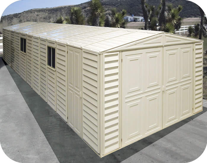 DuraMax Sheds Vinyl Garage 10x26 w/ Foundation Kit