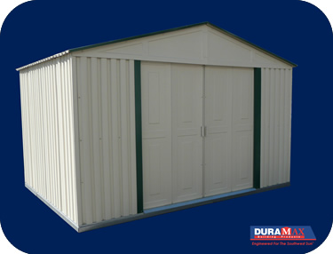 duramax vinyl storage shed the duramax 10x6 teton vinyl shed is our