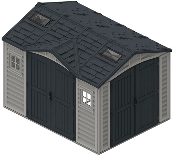 DuraMax 10x8 Vinyl Shed - Roof Skylights Included
