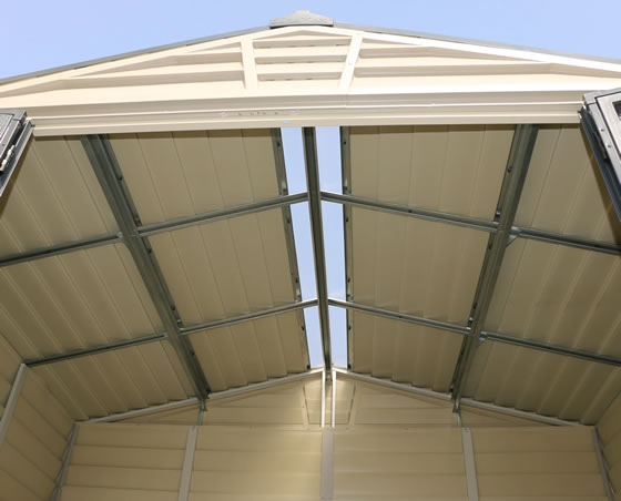 DuraMax 10x8 StoreMax Plus Shed Roof Ridge Skylight Included!
