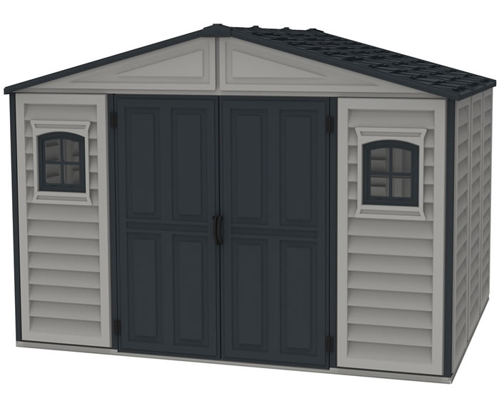 DuraMax 10.5x8 WoodBridge II Vinyl Shed w/ Foundation