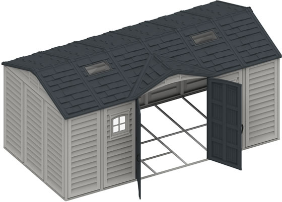 DuraMax 15x8 Vinyl Shed - Foundation Framing Kit Included