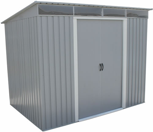 Duramax 8x6 Metal Shed 50371 Pictured w/ Doors Closed