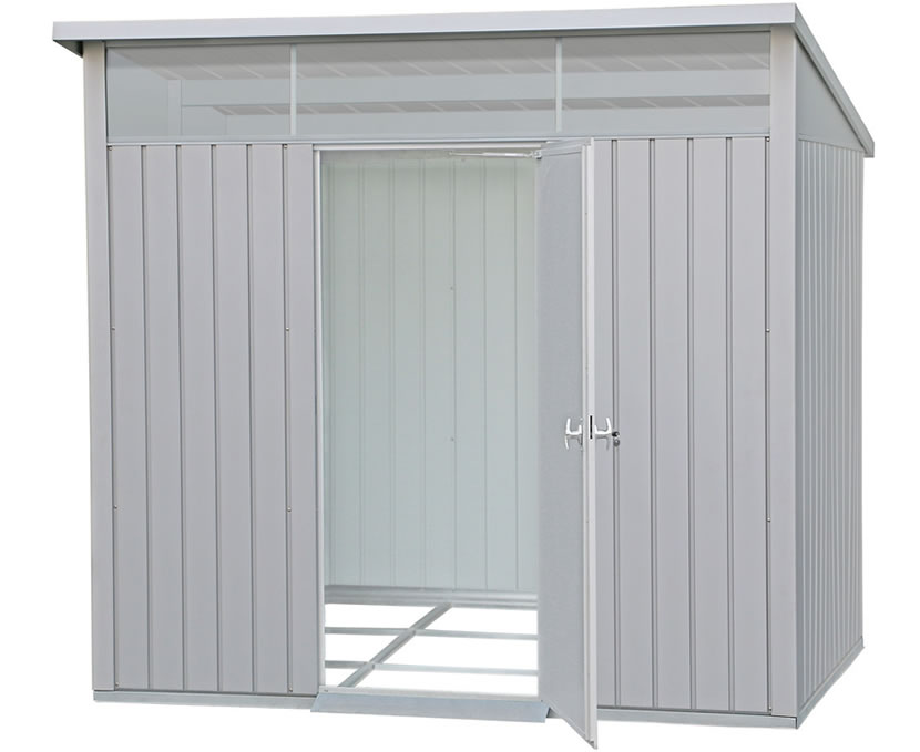 Duramax 8x6 Palladium Metal Shed Kit - Light Gray
