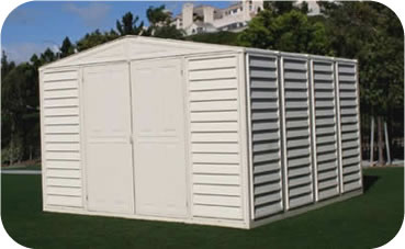 WoodBridge 10x10 DuraMax Vinyl Storage Shed