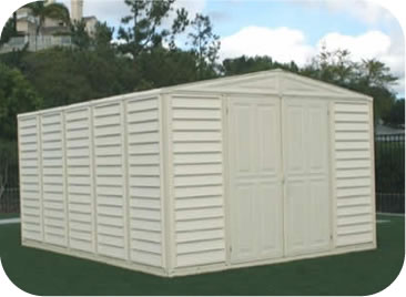 WoodBridge 10x13 DuraMax Vinyl Storage Shed