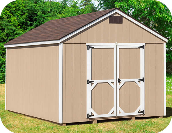 EZ-Fit Craftsman 10x10 Wood Storage Shed Kit