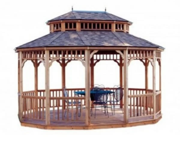 Handy Home 12x16 Monterey Oval Gazebo Kit - Package