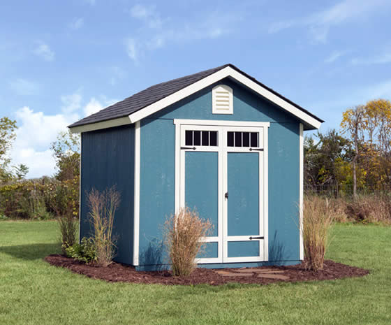 Auburn 8x8 Wood Shed Assembled In Backyard