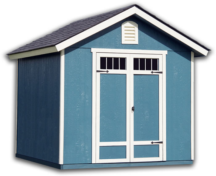 Handy Home Auburn 8x8 Wood Shed w/ Floor