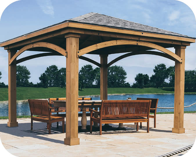 Handy Home Brezina 12x12 Cedar Gazebo Kit