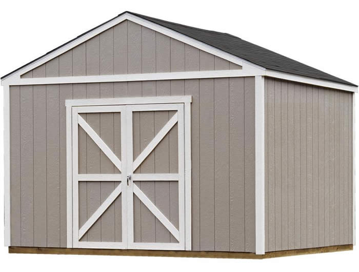 Handy Home Columbia 12x12 Wood Storage Shed w/ Floor