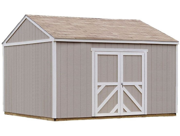 Handy Home Columbia 12x16 Wood Storage Shed w/ Floor