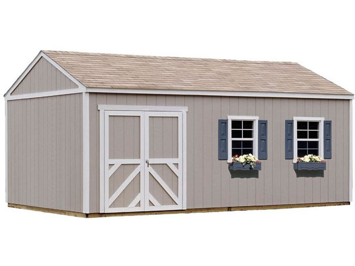 Handy Home Columbia 12x24 Wood Storage Shed w/ Floor