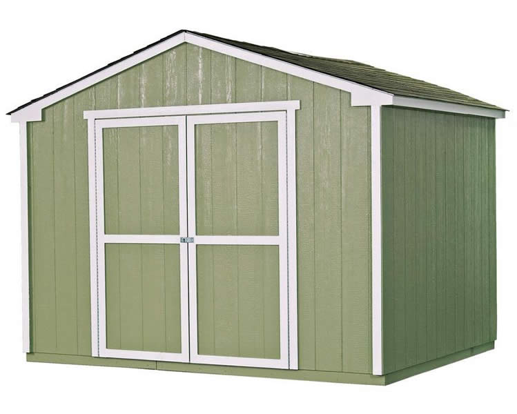 Handy Home Cumberland 10x8 Wood Storage Shed w/ Floor
