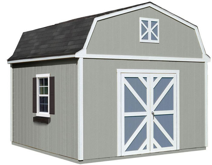 Handy Home Sequoia 12x12 Wood Storage Shed w/ Floor