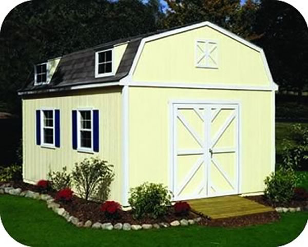 Handy Home Products Sequoia 12x20 Wood Storage Shed Kit