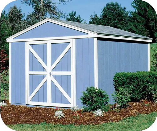 Handy home somerset 10x10 wood storage shed w floor 18413 0 for Garden shed 10x10