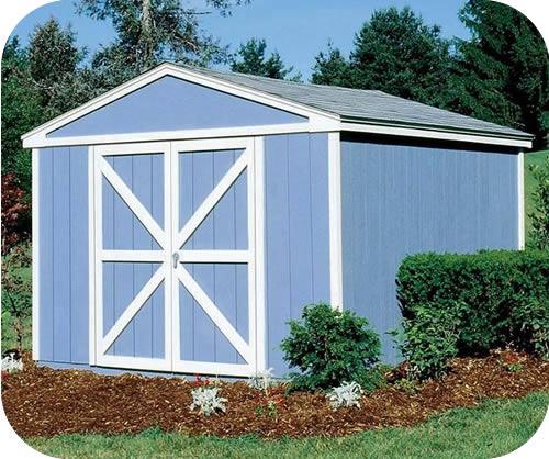 Handy Home Somerset 10x10 Wood Storage Shed W Floor 18413 0