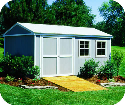 Handy home somerset 10x14 wood storage shed kit 18414 7 for 10x14 shed floor plans