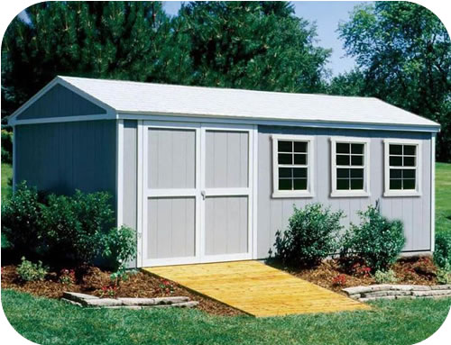 Handy Home Somerset 10x18 Wood Storage Shed w/ Floor