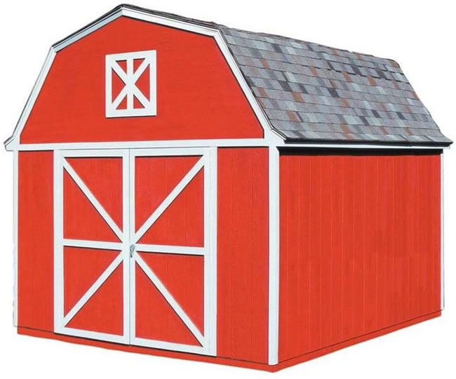 Handy Home Berkley 10x10 Wood Storage Shed w/ Floor