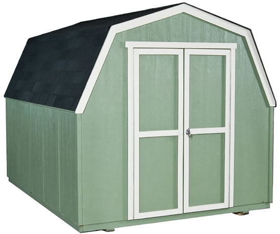 Handy Home Marco 8x10 Gambrel Shed Kit w/ Floor