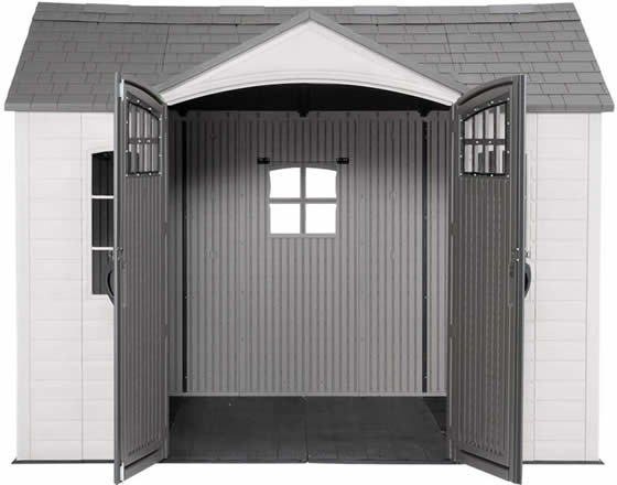 Lifetime 10x8 Shed 60333 - Includes Floor & Bonus Back Window!