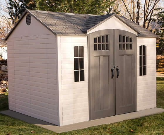 Lifetime 10x8 Shed 60333 - Installed In Backyard On Concrete Slab