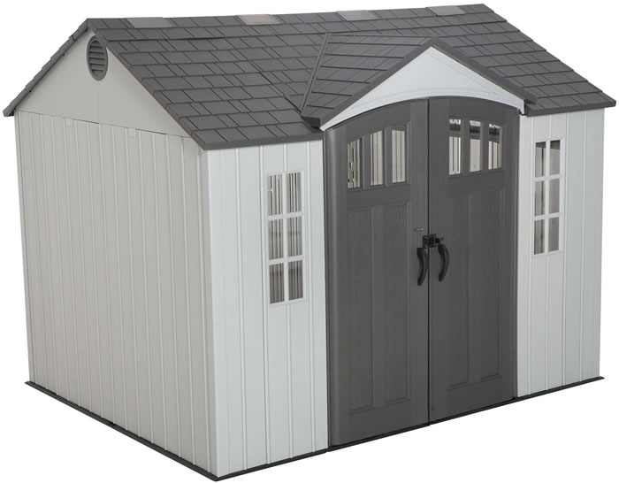 Lifetime 10x8 Outdoor Storage Shed Kit W Vertical Siding 60243