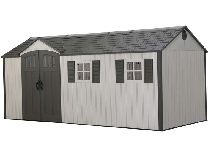 Lifetime 17.5x8 Plastic Storage Shed Kit w/ Floor