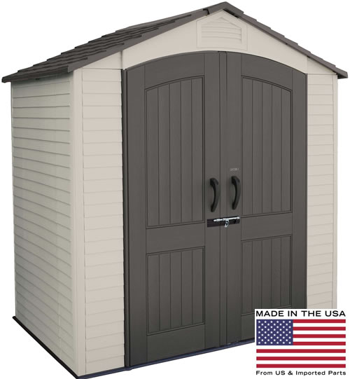 Lifetime 7x5 Plastic Storage Shed 60057 is Made In The USA