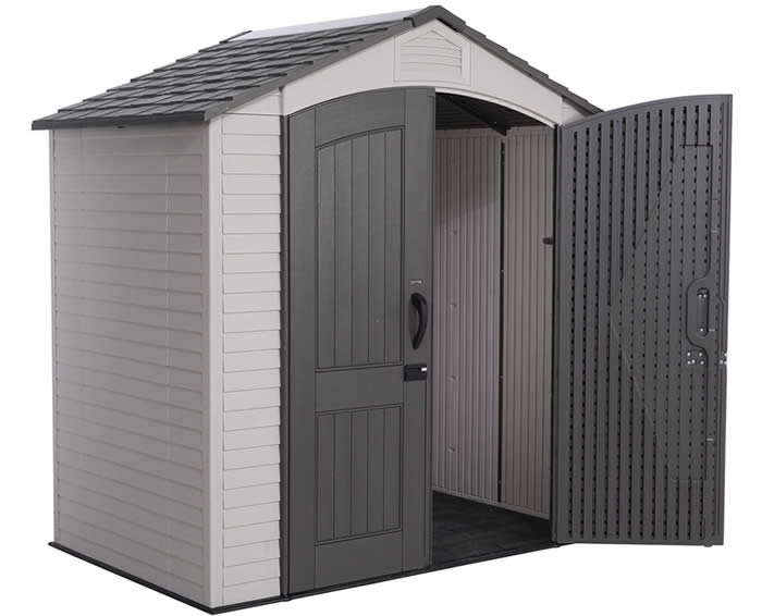 lifetime sheds 7x5 plastic storage shed kit w floor