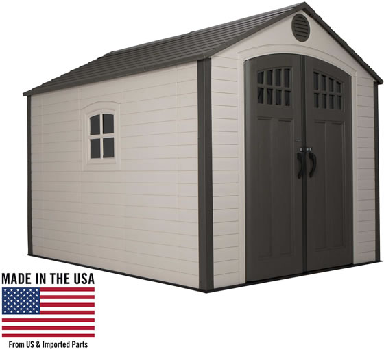 Lifetime 8x10 Shed 60117 is Made In The USA