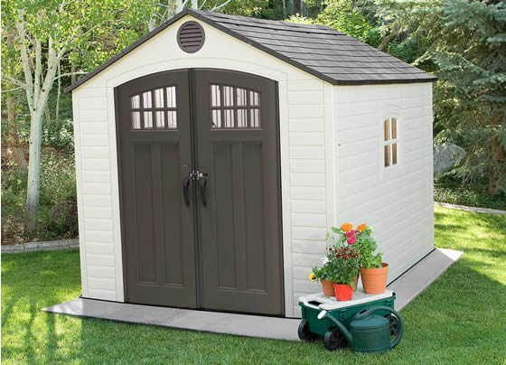 Lifetime 8x10 Shed 60332 Assembled In Backyard