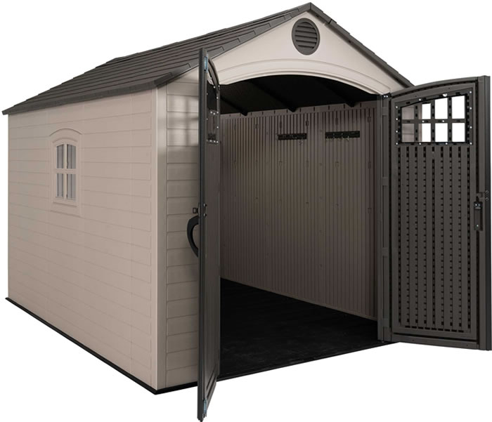 Lifetime 8x10 Storage Shed Kit w/ Floor & Skylights