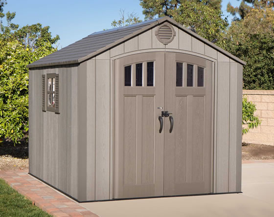 Lifetime 8x10 Shed 60211U - Installed - Doors Closed View