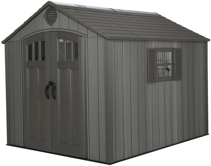 Lifetime 8x10 Shed Kit w/ Vertical Siding - Roof Brown