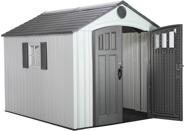 Lifetime 8x10 Outdoor Storage Shed Kit w/ Vertical Siding