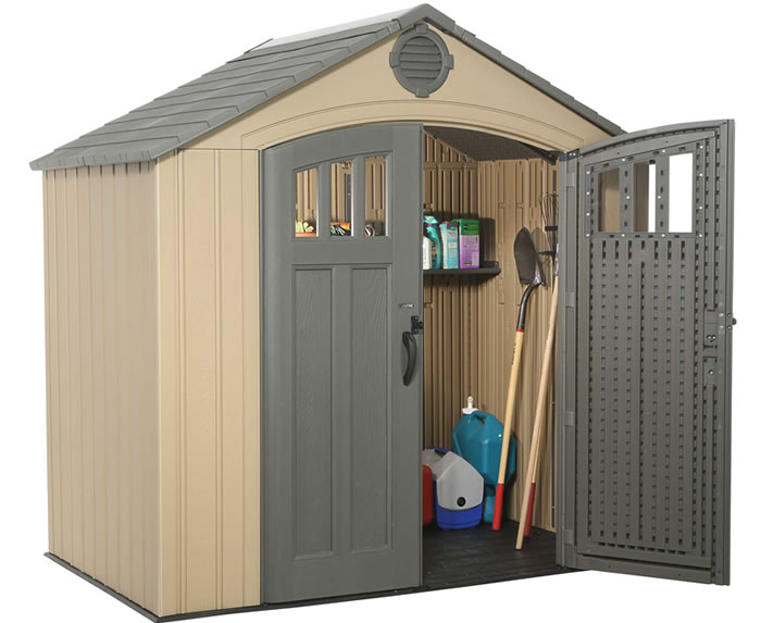 Lifetime 8x5 Outdoor Storage Shed Kit w/ Floor  sc 1 st  ShedsForLessDirect.com & Lifetime Sheds - Plastic Storage Shed Kits