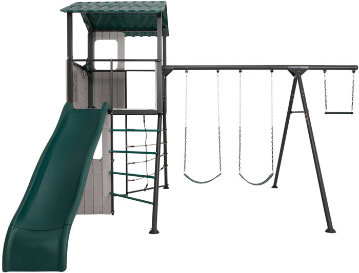 Lifetime Adventure Clubhouse Metal Swing Set - Earthtones